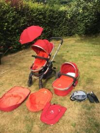 icandy peach pram with carrycot
