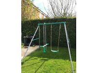 Garden swing and seing horse
