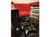 XBox 360, 260GB with Kinect and games