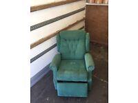 Green extendable Chair/Armchair