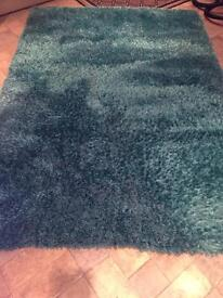 Stunning large teal Rug for sale