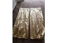 M&S Gold Curtains