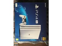 Brand new PS4 Pro 1TB White Bundle with extra DS4 and Hidden Agenda. RRP £380