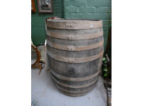 Lovely Large Vintage Oak Barrel Wooden Keg Pub Table