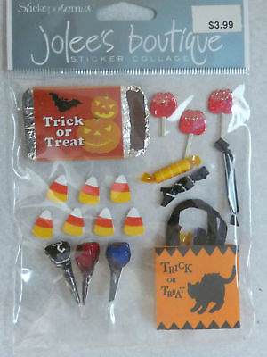 1820 JOLEE'S 3D Stickers HALLOWEEN TRICK OR TREAT Candy - 6