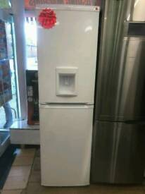 BEKO WHITE FROST FREE HALF AND HALF FRIDGE FREEZER WITH WATER DISPENSER