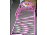 Hello Kitty Character Toddler/Cot Bed Frame for girl 1.5-7 years old, side panels for extra security
