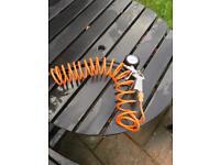 Air compressor hose attachment
