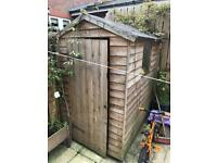 Wooden 6x4 garden shed