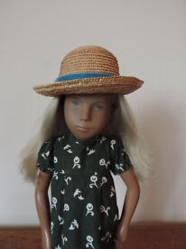 Vintage 1970's Sasha Doll Straw Hat