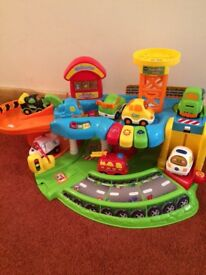 Toot toot garage and vehicles