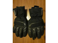 Motorbike scooter leather & textile gloves size L10