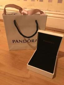 Pandora gift bag and large bracelet box