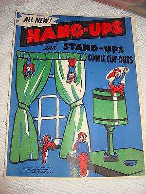 1950 HANG-UPS Stand-Up Comic Cut-Out ELVES TO PLACE AROUND THE HOUSE - Cut Out Stand Ups