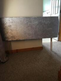Crushed velvet headboard