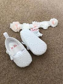Baby shoes and headband