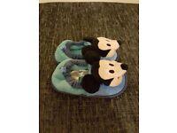Disney's Micky Mouse Boys Slippers, Size 4k/5k, Good Condition, BARGAIN!