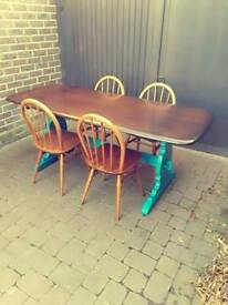 Vintage Retro Ercol Refectory Plank Table - Delivery Available