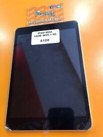 APPLE IPAD MINI- 16GB- WIFI + 4G- BLACK- GRADE A