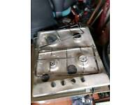 Elec single oven and gas hob