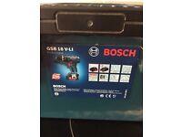 Bosch GSB18v-li never used