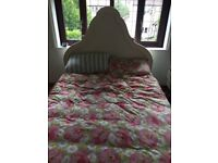 Solid wood hand painted double bed
