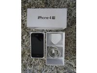 APPLE iPHONE BLACK 4S 8GB O2 AS NEW CONDITION BOXED