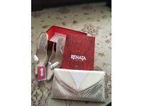 Renata shoes and matching clutch bag