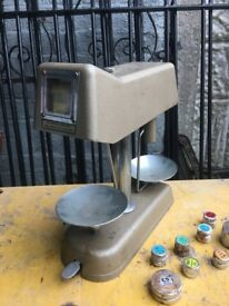 Vintage Universal Money Counter Bank Scales With Cash Denomination Weights- delivery available