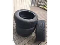 4x 245/45 17 Dunlop SP Winter Sport 4D tyres. Only used for 3 months