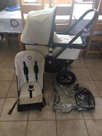 Bugaboo Cameleon limited edition black frame off white fabric