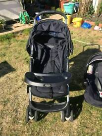 Graco literider travel system - black and grey ONLY USED 5 TIMES