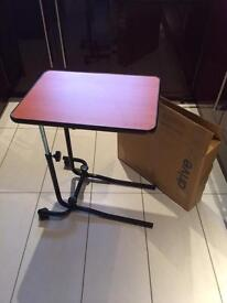 OVERBED TABLE - AS NEW - WITH BOX