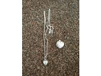 Genuine Pandora necklace, heart pendant