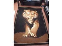 Tiger image rug