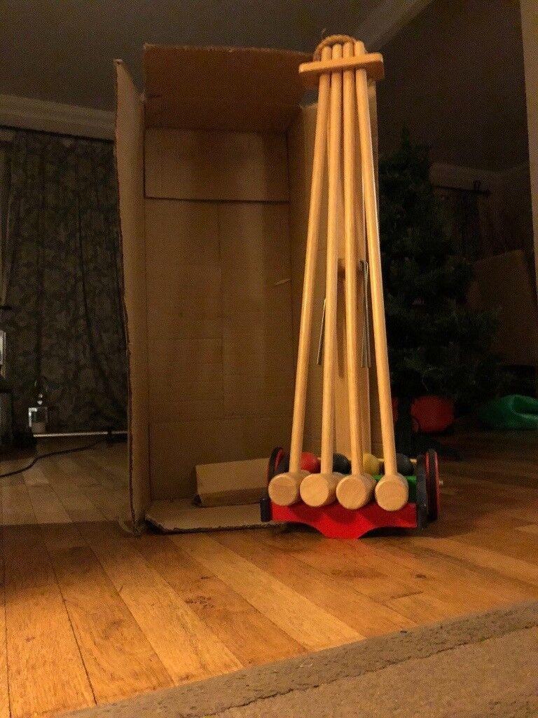 Brand New Wooden Croquet Set