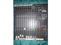 Soundcraft Mixer fX8 spirit w/Lexicon effects, good condition with cables and power supply