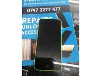 IPhone 5c on o2 grade c no offers