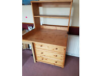 Chest of drawers with baby changing conversion