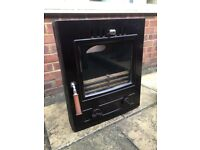 Wood Burner - Multi Fuel Enamel Dark Brown - Great Condition