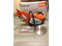"stihl ts410 12"" petrol disc cutter cut of saw"
