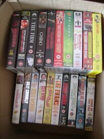 a selection of 30 VHS tapes for sale less than 5p each BARGAIN