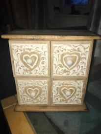 Small set of wooden storage draws