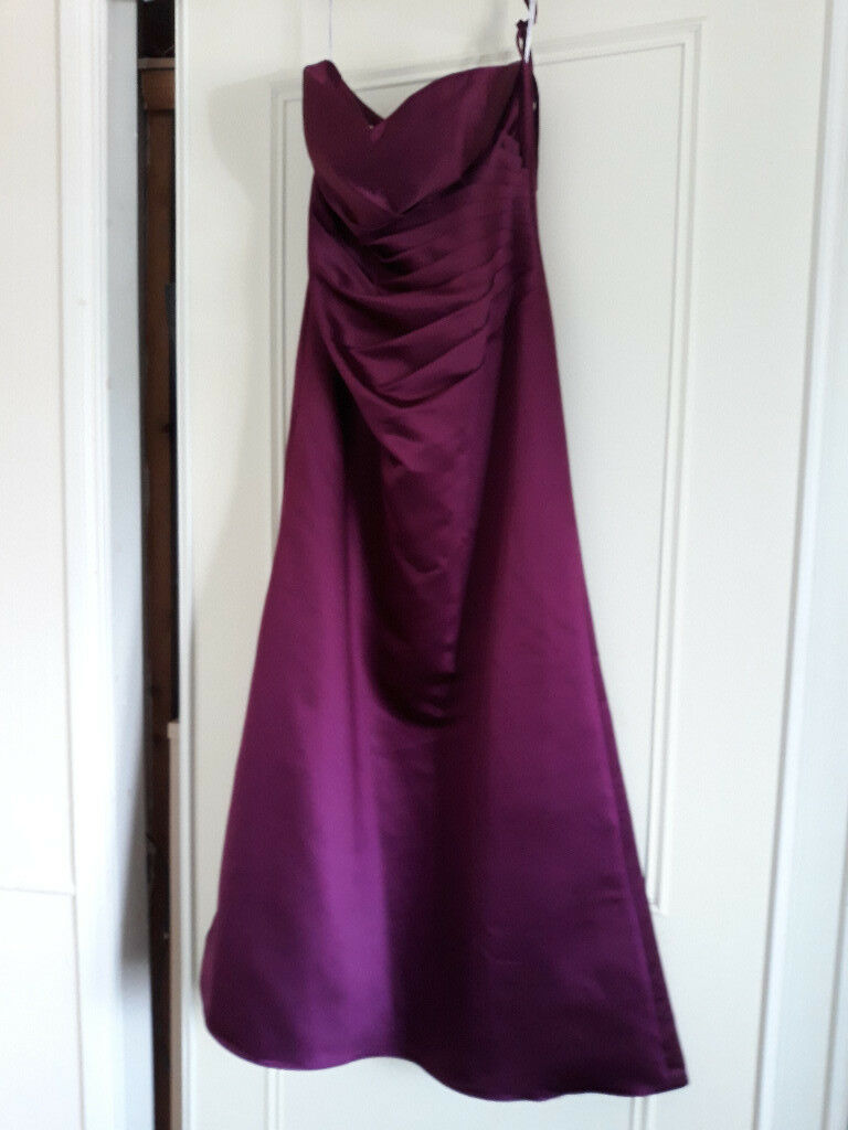 bridesmaid/prom dress 12/14 claret | in Filey, North Yorkshire | Gumtree