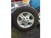 Landrover freelander wheels with brand new tyres