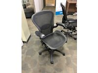 FREE DELIVERY - Herman Miller Aeron Ergonomic Mesh Desk Chair. Fully Loaded, Size B