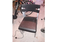 4 Plastic Dinning Room Chairs for sale