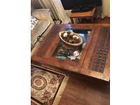 Large real wood storage coffee table