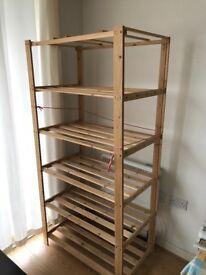 Light weight wooden shelf