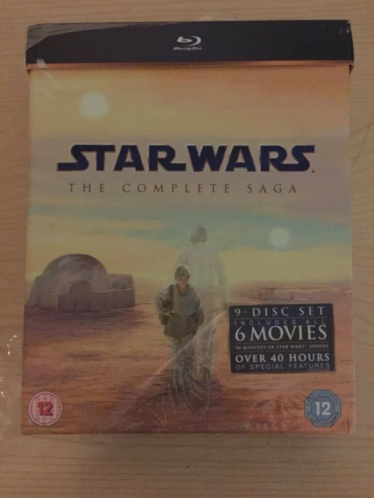 Star Wars Complete Saga (Blu-Ray) Brand New & Sealed
